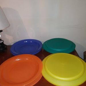 (RARE) Set of 4 Double Impression bowl/plate